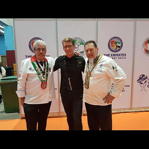 Chef Uwe Micheel, VITO CEO Andreas Schmidt and WACS President Thomas Gugler
